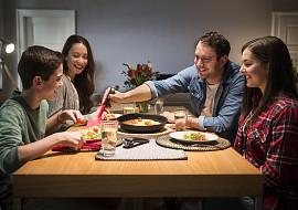 Večeříme společně každý den