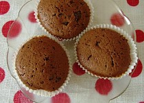 Jemné čokoládové muffiny