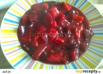 Fazolový guláš s červenou řepou