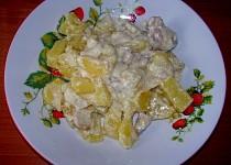 Zapečené maso s nivovo-smetanovými brambory