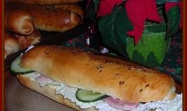 Bagety s pomazánkou z brambor