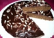 Čokoládovo - kokosový koláč