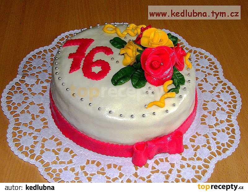 dort k narozeninám recept Čokoládový dort potažený marcipánem recept   TopRecepty.cz dort k narozeninám recept