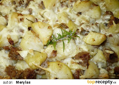 Francouzské brambory s mletým masem