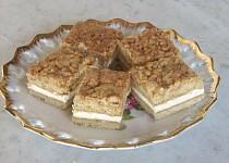 Karamelovo-ořechové řezy