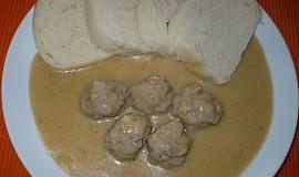 Kuličky z mletého masa ve svíčkové omáčce