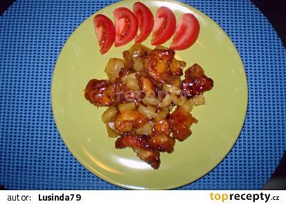 Kuřecí prsa s ananasem II