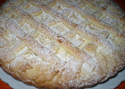 Linecký koláč z poloviční dávky s tvarohem