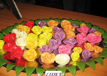 Jsou z toho takové krásné růžičky.