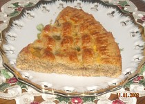 Ořechový koláč s pomerančovou zavařeninou