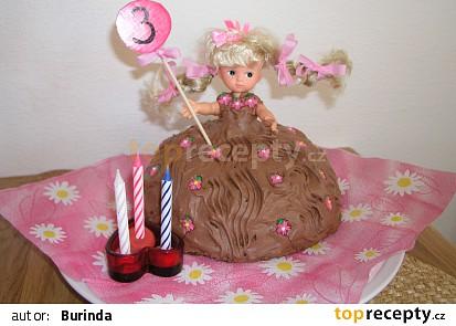 Narozeninový dort - panenka