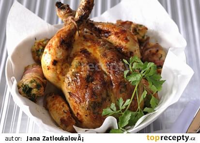 Pečené kuře s nádivkou