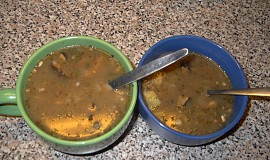 Polévka z pohanky a hub