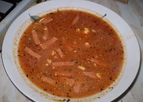 Rajská polévka s bazalkou...