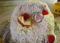 Slaný dortík aneb vzpomínka na chlupatý přehoz z dětství :o)))