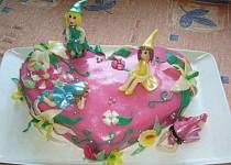 Srdíčkový dort s vílami