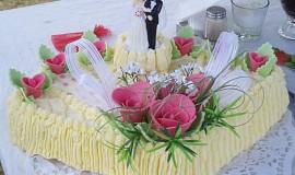 Svatební dort mušle