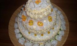 Svatební dort třípatrový - domácí
