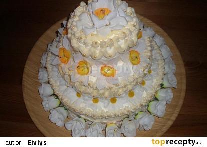 Svatební dort třípatrový domácí