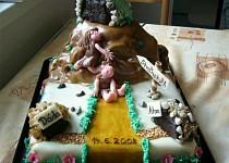 Svatební dortík pro příbuznou - brali se ve skalách :o))