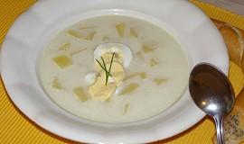 Sýrová polévka s vejcem