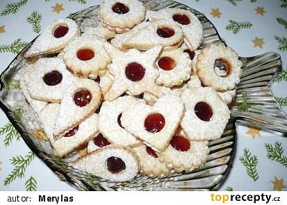 Vánoční vykrajované linecké cukroví