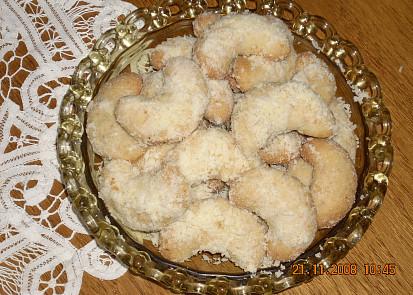 Voňavé kokosové rohlíčky
