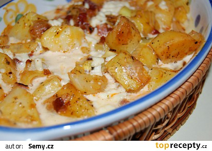 Zapékané brambory se smetanou