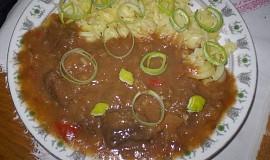 Hovězí proužky se zázvorem a celerem
