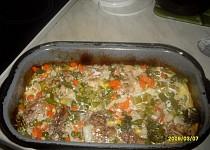 Krůtí maso zapečené se zeleninou