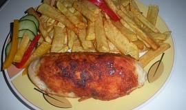 Kuřecí kapsa se sýrem a anglickou slaninou