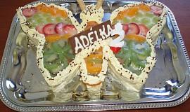 Motýlek dort