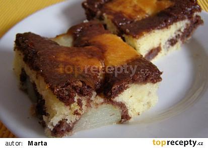 Mramorový koláč hruškový