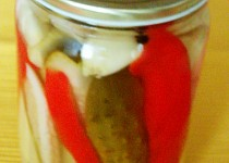 Okurkové řezy s paprikou