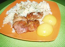Pečené Krůtí mäso s broskyňou