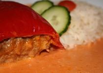 Plněné papriky ve šlehačkové omáčce