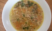 Polévka z mletého masa s houbami