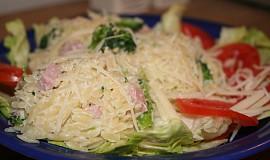 Těstovinová rýže se šunkou a brokolicí