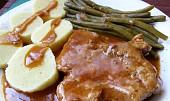Vepřová krkovice s gulášovou šťávou