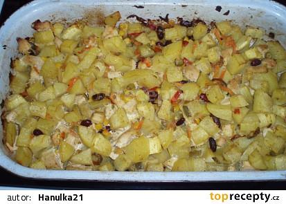 Zapečené brambory se zeleninou