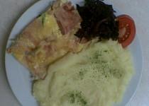 Zapečené filé se šunkou a zeleninou