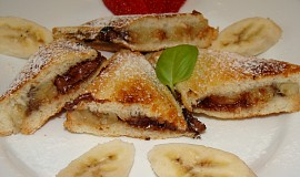 Banánovo-čokoládové toasty