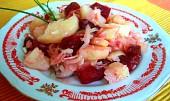 Bramborový salát s červenou řepou