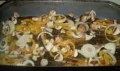 Kapr  pečený na saturejce