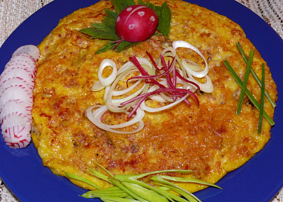 Knedlíky s vejci (omeleta)