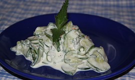 Okurkový salát s mátou