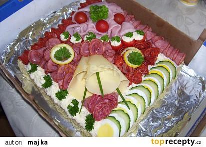 Slaný chlebový dort