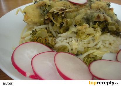 Zapečená brokolice se špagetami