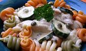 Kuřecí  maso se smetanou, cuketou a kapary