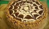 Ořechovokávový dort